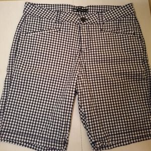 Lee Natural fit Blue & White Mid Thigh shorts 8